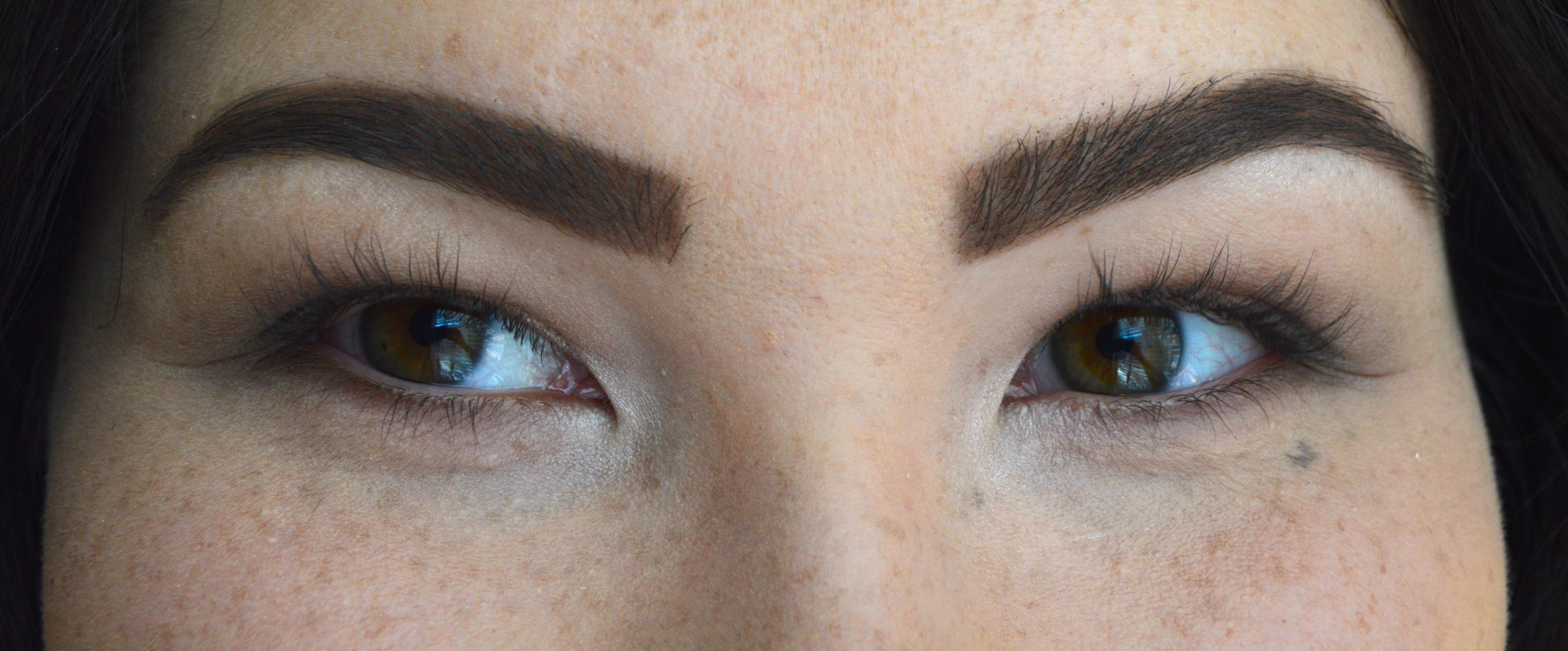 23f9d40f729 And here is what they look like with two coats of the L'Oreal Voluminous  False Fiber Mascara.